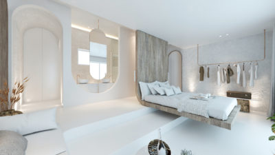 Mykonos Earth Suites – Deluxe Panoramic Sea Vew Room (1)