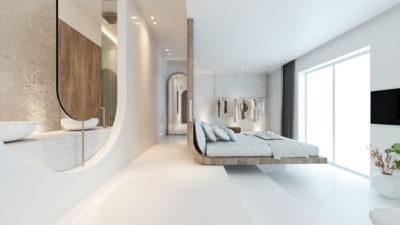 Mykonos Earth Suites – Deluxe Panoramic Sea Vew Room (2)
