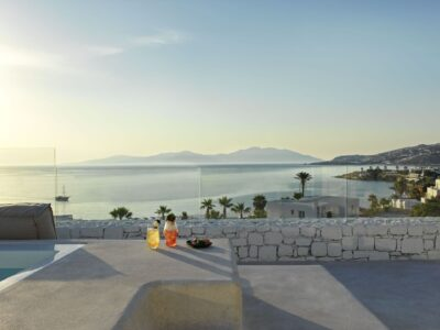 Mykonos Earth Suites – Deluxe Room with Jetted Tub Sea View (1)