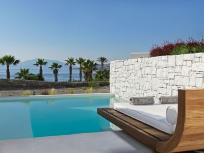 Mykonos Earth Suites – Junior Suite with Private Pool Sea View (1)