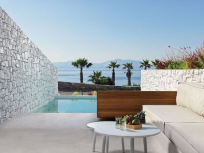 Mykonos Earth Suites – Junior Suite with Private Pool Sea View (2)